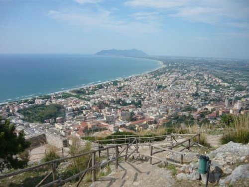 Terracina from the Temple of Jupiter Anxur